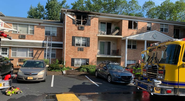 Firefighters were able to contain the flames to a single second floor unit of the Croftwood Apartments in Feasterville.