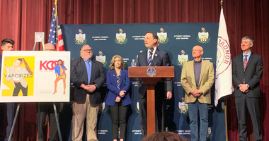 Pennsylvania AG Josh Shapiro announces the state is suing Juul at Radnor High School.