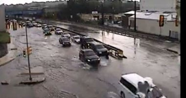 Flooding on U.S. 202 in Norristown
