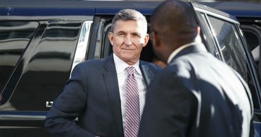 President Donald Trump's former National Security Advisor Michael Flynn arrives at federal court in Washington, Tuesday, Dec. 18, 2018.