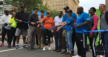 The ribbon cutting was the official start of Philly Free Streets