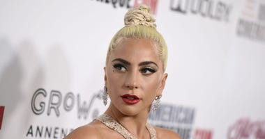 Lady Gaga arrives at the American Cinematheque Award ceremony honoring Bradley Cooper in Beverly Hills, Calif.