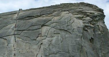 Yosemite National Park's famous Half Dome trail