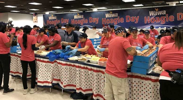 The National Constitution Center plays host to a fleet of Wawa hoagie-makers