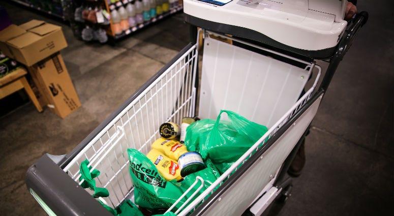 Caper AI's smart shopping cart lets you skip the checkout line.