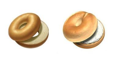 Apple's bagel emoji