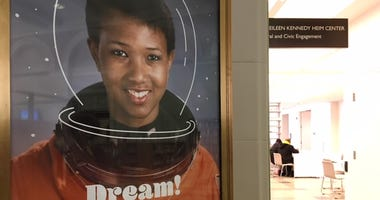 The Free Library of Philadelphia poster celebrating Black History Month.