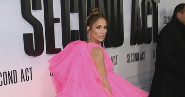 """In this Dec. 13, 2018, file photo, Jennifer Lopez attends the world premiere of """"Second Act"""" at Regal Union Square Stadium 14 in New York."""