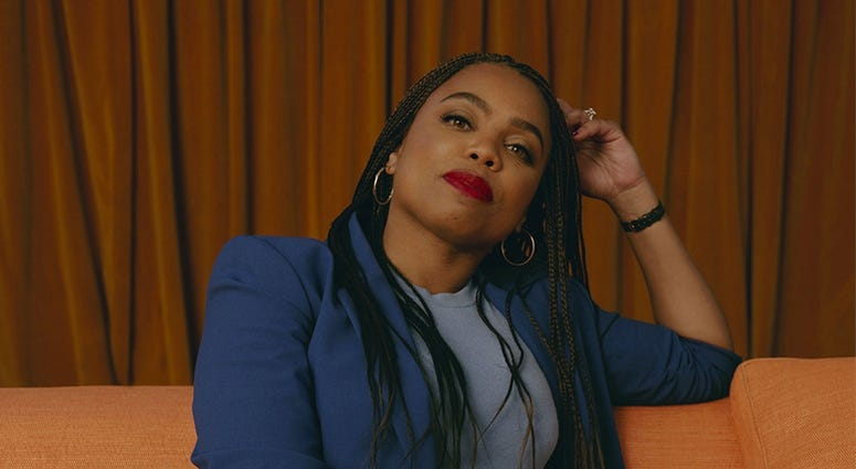 In this undated photo provided by Spotify, Jemele Hill poses for a photo.