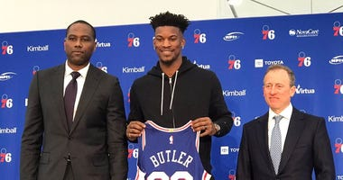 "The newest member of the Sixers ""Big 3,"" Jimmy Butler"