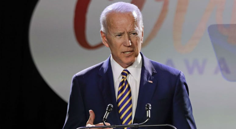 Former Vice President Joe Biden speaks at the Biden Courage Awards Tuesday, March 26, 2019, in New York.