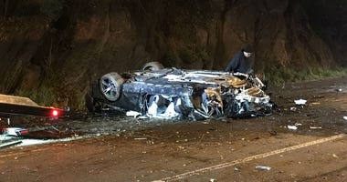 A BMW M3 crashed on Kelly Drive Friday morning.
