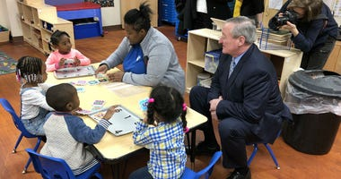 Mayor Jim Kenney toured Inside Your Child's World, a preschool in Elmwood.