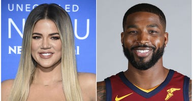Combo photo of Khloe Kardashian and Tristan Thompson from 2017.