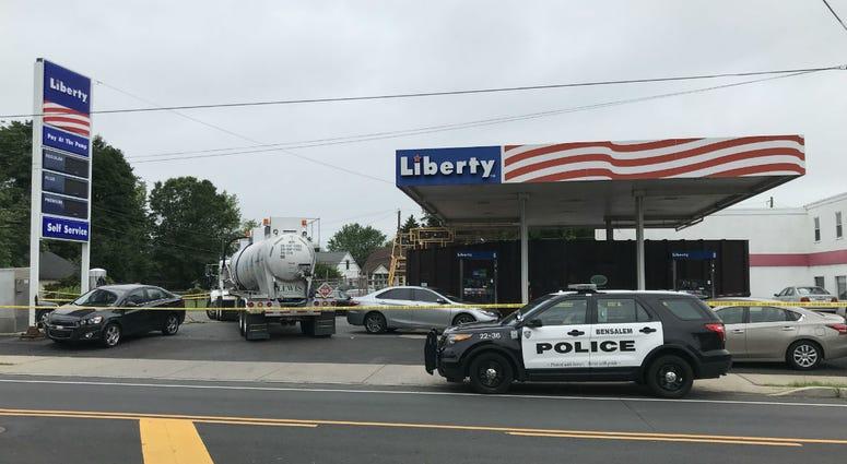 Liberty gas station and Vigilante Service Center in the 1200 block of Bristol Pike