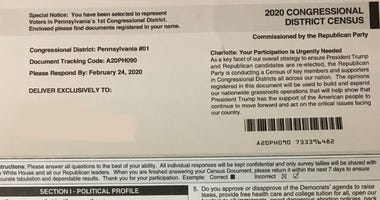 Residents in the Philadelphia area are receiving a mailing from the Republican National Committee that came under fire nationally because of its resemblance to the U.S. Census form.