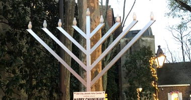 Menorah in Old City.