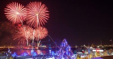 New Year's Eve Fireworks Philadelphia Waterfront