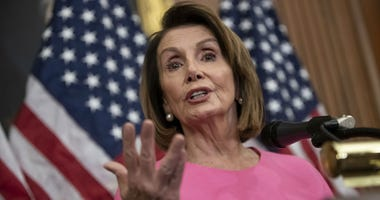 In this Nov. 7, 2018, file photo, House Minority Leader Nancy Pelosi, D-Calif., speaks in during a news conference on Capitol Hill in Washington.