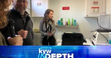 KYW In-Depth host Carol MacKenzie with Nick Renn and Toni Maccariella.