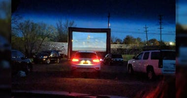 Social distancing drive-in in Pottstown.