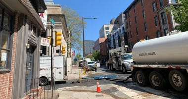 Construction finishing up on Third and Arch streets.