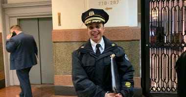 Philadelphia Police Commissioner Danielle Outlaw at City Hall.