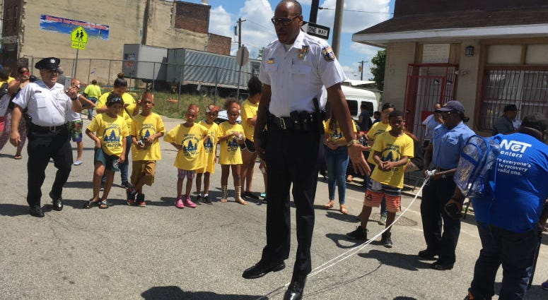 Philadelphia police cooked up a community block party to build stronger neighborhood bonds in the 25th Police District.
