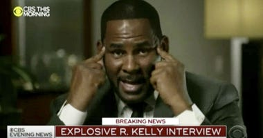 """R. Kelly talks during an interview with Gayle King on """"CBS This Morning"""" broadcast Wednesday, March 6, 2019."""