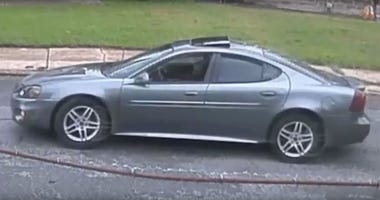 Image of suspect's car from surveillance video.