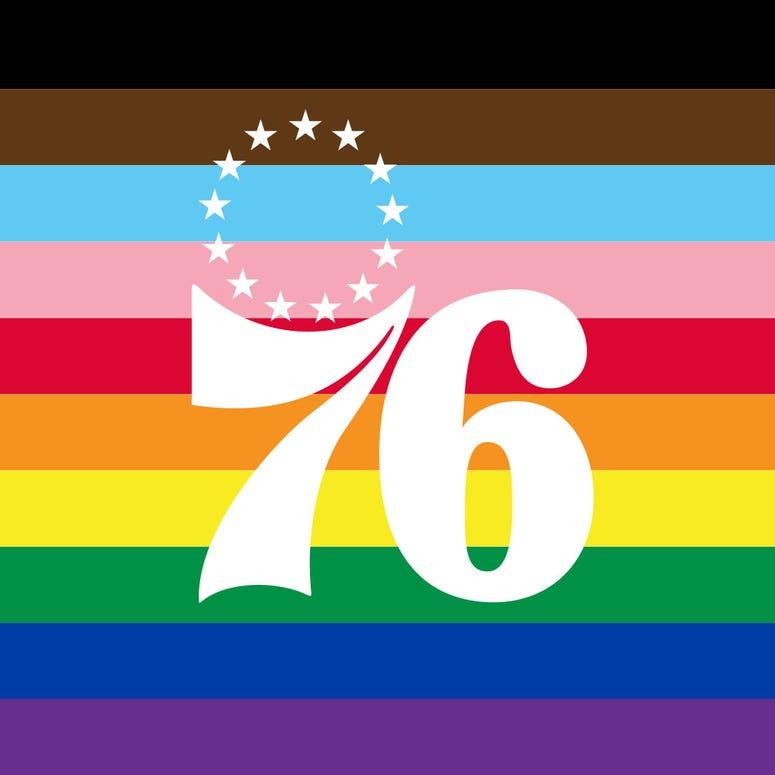 2020 Philadelphia 76ers Pride-themed logo