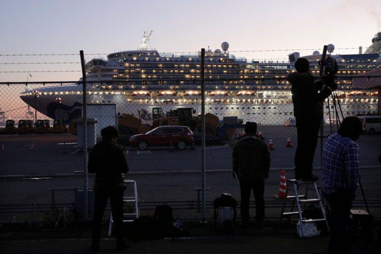 The quarantined Diamond Princess cruise ship
