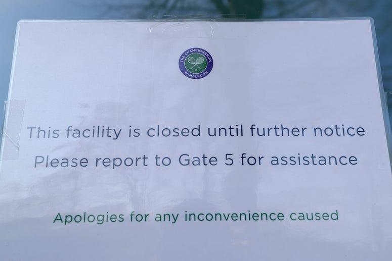 Wimbledon canceled