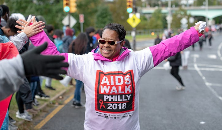 AIDS Walk Philly in 2018.