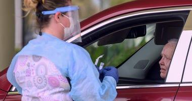 Drive-thru coronavirus testing