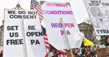 Reopen PA protest