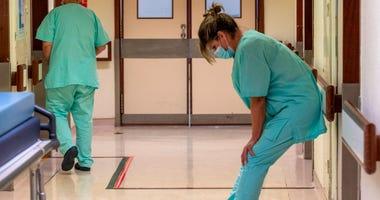 Overworked nurse
