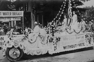 Anti-suffrage float