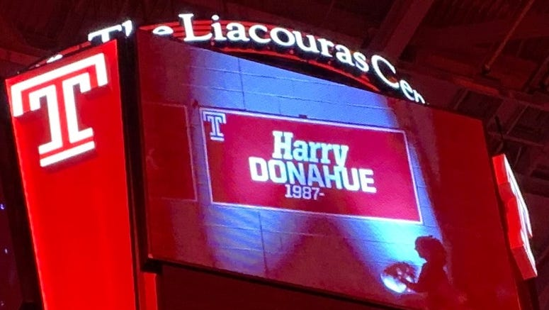 Harry Donahue inducted into the Temple Basketball Ring of Honor