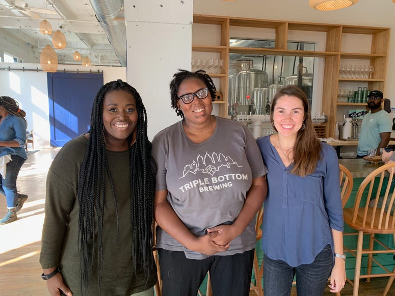 From left: Bethany Stewart of Project Home, Dasha Clark-Nedd and Tess Hart