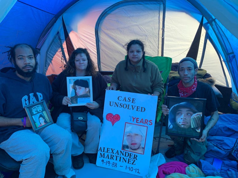 Operation Save Our City staged a weekend campout in West Kensington to bring awareness to murders in the city.
