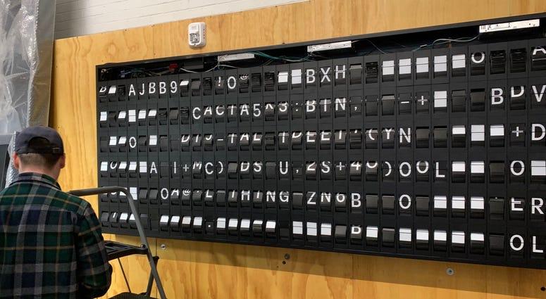 Oat Foundry's split-flap board