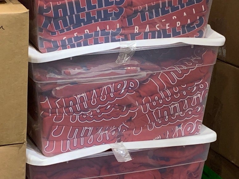 Phillies equipment going to Clearwater.