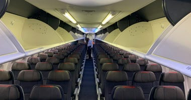 Empty American Airlines airplane
