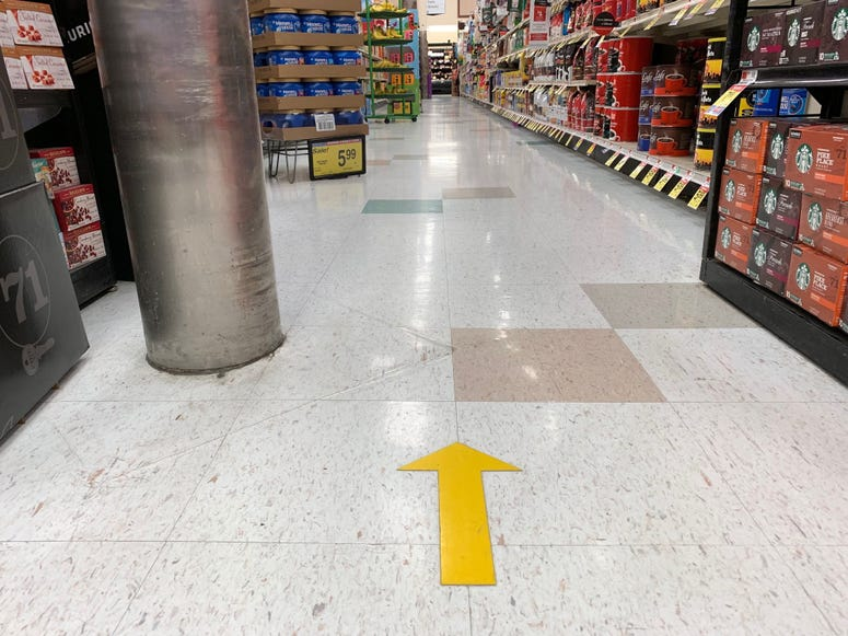 Grocery stores create distance amid coronavirus