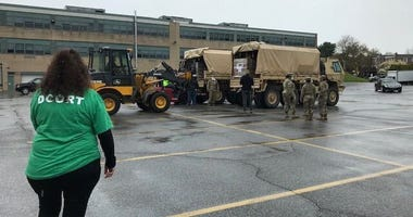 The National Guard dropped off 90,000 meals in Delaware County.