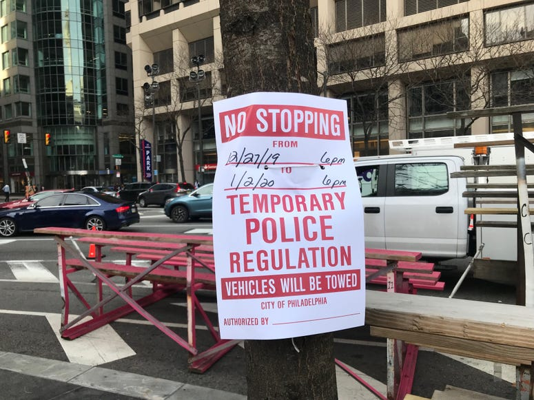 Parking restrictions are in effect for Wednesday's Mummers Parade.