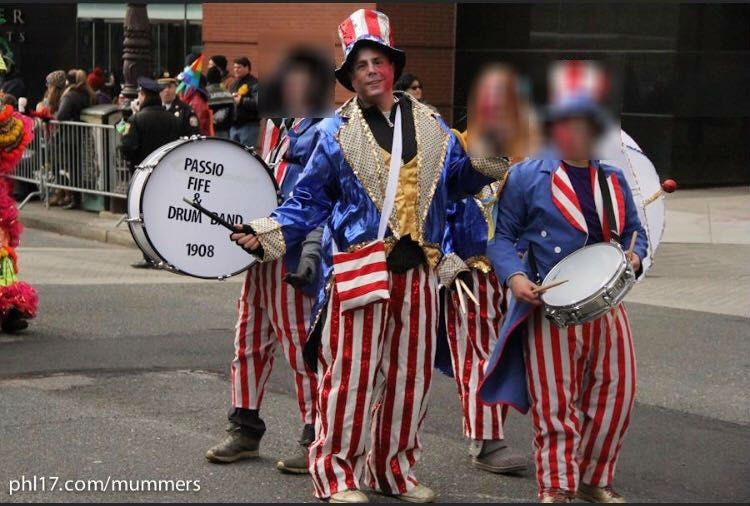Michael Passio dressed up as a mummer during the Mummers Parade.
