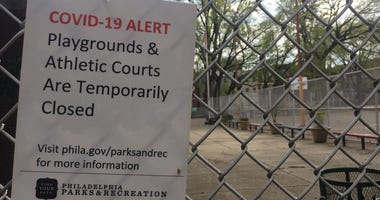 Parks are closed due to coronavirus.