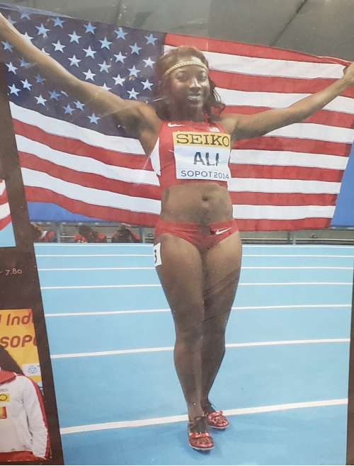 2016 Olympic silver medallist Nia Ali.